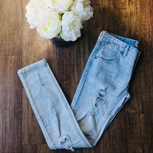 Free People distressed skinny jean!